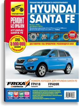 Книга Hyundai Santa Fe  c 2006-2010 г. Руководство по ремонту и эксплуатации в цветных фотографиях - купить в интернет магазине Третий Рим
