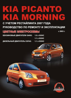 Kia Picanto, Kia Morning с 2003 Книга, руководство по ремонту и эксплуатации.